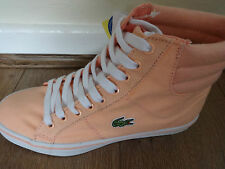 Lacoste Sport Marcel mid ABB2 trainers shoes peach uk 4 eu 37 us 6 new+tags