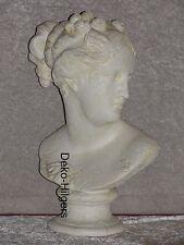 Büste Elisa Kopf Figur Frau Stuckgips Dekoration Säule Statue Auf Alt Crem 2344