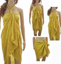 Plus Size Large Cotton Swimwear Pareo/Scarf/Beach Cover-Up/Wrap/Kaftan/Sarong