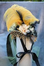 Mini Top Hat -Green Satin Riding Hat -  Victorian Steampunk, Cosplay.