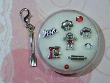 COOK*BAKE Floating Charms*ReD ORIGAMI Stone & KiTCheN MiXeR*Rolling Pin*FORK*