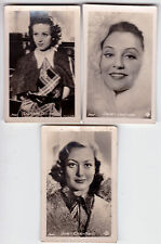 Vintage lot of 3 Movie Stars - MGM - MINI Old photo cards ROSS