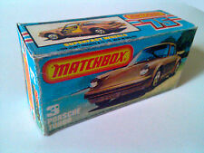 Boîte copie repro MATCHBOX Superfast N° 3 Porsche Turbo ( reproduction box vide