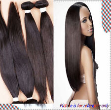 4 Bundles straight Brazilian human Remy hair Extensions 200g weave Virgin weft