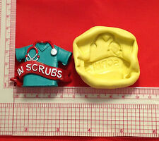 Medical Scrubs Silicone Push Mold A829 Candy Chocolate Fondant Soap Sugar Craft