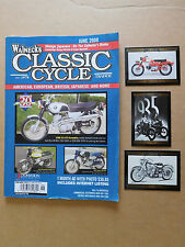 #57 JUNE 2008 WALNECKS CLASSIC CYCLE TRADER MAGAZINE 3 HARLEY DAVIDSON MAGNETS