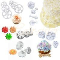 Fondant Gum Paste Flower Sugarcraft Cutters Plunger Mold Mould Cake Decorating
