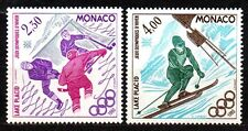 Monaco- 1980 Olympic games Lake Placid Mi. 1419-20 MNH