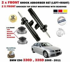 FOR BMW 330D 335D 2005->NEW 2x FRONT SHOCK ABSORBER SET + 2X STRUT MOUNTINGS KIT
