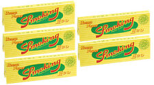 5 Pack Smoking Eco Pure Hemp 1.25 Cigarette Rolling Papers 250 Leaves 3110-5