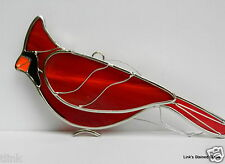 Stained Glass Cardinal Bird sun catcher