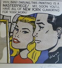 "ROY LICHTENSTEIN ""WHY, BRAD DARLING..MASTERPIECE"" MATTED PRINT  SIGNED"