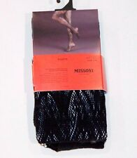 MISSONI for TARGET Fishnet OPENWORK Pantyhose TIGHTS Shiny S/M EBONY