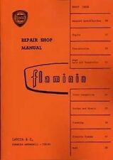 LANCIA FLAMINIA 1968 CAR shop MANUALE LIBRO CATALOGO CARTA