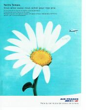 PUBLICITE ADVERTISING 126  1999  Air France  le tarif Tempo 2