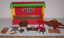 Playmobil Medieval Tent & Assorted Accessories (13 pcs) for Replacement Parts ~
