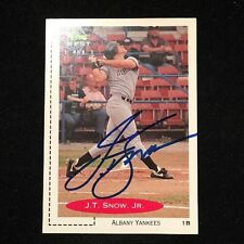 J.T. SNOW 1991 CLASSIC RC AUTOGRAPHED SIGNED AUTO BASEBALL CARD 279 YANKEES
