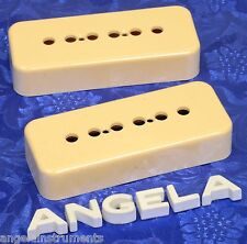 2x Lindy Fralin Cream P90 Soap Bar Pickup Covers! The Best! Set of Two Soapbar