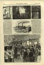 1875 Destruction Mr Hankey Residence By Fire Mersey Rescue Liverpool