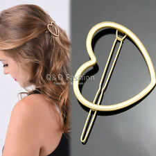 Valentine Bridal Prom Gold Heart French Updo Hair Pin Clip Dress Snap Barrette