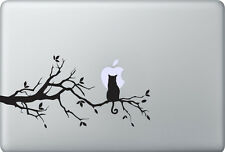 Apple MacBook Air Pro + KATZE + Aufkleber Sticker Skin Decal Cat Moonlight Moon