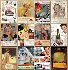 Lot of 32 Postcards Vintage Advertising Old time style postcard Post Cards Ablum