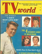 Edd Byrnes Tuesday Weld Annette Funicello Molly Bee cover TV World magazine 1959