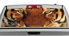 Truck Rear Window Decal Graphic [Felines / Tiger Eyes] 20x65in DC74306