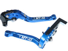 YAMAHA MT-10 2016 FOLDING BLUE BRAKE AND CLUTCH LEVER SET RACE TRACK ROAD S10Y