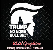 "DONALD TRUMP TRAIN"" 2016 Decal car Diesel Truck 1500 sticker president  GOP USA"