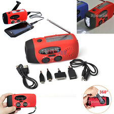 Emergency Hand Crank Solar Dynamo AM/FM/WB Radio,Phone Charger,3 LED Flashlight