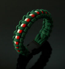 Leicester Tigers Rugby 550 Paracord Bracelet