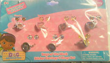 Kids Play Rings and Sticker Earrings Disney Days of the week  B49