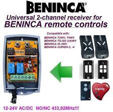 BENINCA T2WV,TO.GO2WV,IO.2WV,CUPIDO-2 compatibile universale 2-canali ricevitore