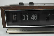 Sony Digimatic Flip Clock Radio 70's AM FM for Parts or Repair ICF-C511W VTG