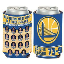 NBA Golden State Warriors 2015-2016 Most Wins In A Season 12 Oz. Can Cooler NEW!