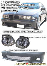 M5-Style Front Bumper Cover (PP) with Fog Fits 96-03 BMW E39 5-Series