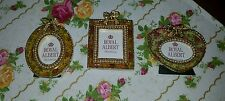 royal albert old country roses 3 mini picture frames chintz design