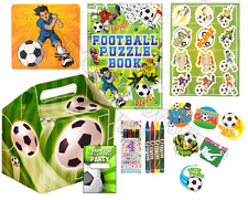 Pre Filled Football Party Box - Soccer World Cup Parties Gift Activity Boys Bags