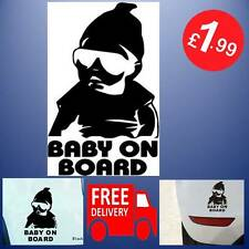 Black Baby On Board Baby Child Window Bumper Car Sign Sticker 14.5 X 9cm Dude