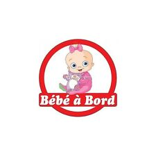 Decal Sticker child Baby à bord baby 16x16cm ref 3576