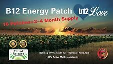 Vitamin B12 Energy (16) Patches. 4 MONTH SUPPLY. Boost Energy, Reduce Fatigue