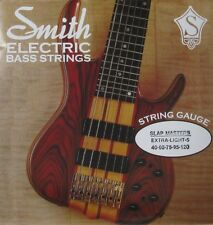 KEN SMITH SMXL-5 SLAP MASTERS STAINLESS STEEL BASS STRINGS, EX LIGHT 5's, 40-120