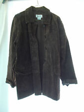 Bagatelle Womens Chocolate Brown Leather/Suede Size M Jacket Very Good Condition