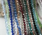 Loose 500pcs Faceted Bicone Crystal Glass Beads 4mm Spacer Jewelry Findings