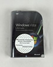 MS Microsoft Windows Vista Ultimate 32 64 Bit - complete used