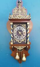 Huge Dutch Zaanse Wuba Warmink nutwood   wall clock, nice. ( Biggest model )