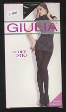 NEUF COLLANT CHAUD TAILLE 2 = S  MARRON GIULIA BLUES 200 DEN PANTHYHOSE WINTER