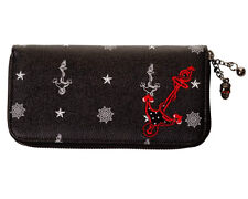 Banned Anchor Nautical Sailor 50s Rockabilly Faux Leather Wallet Purse Black
