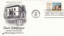 USA 1982 Touro Synagogue FDC Unadressed